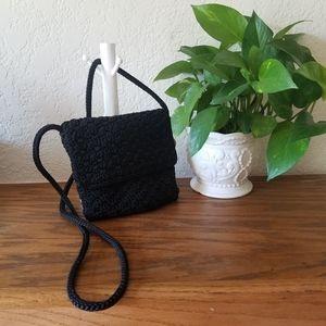 The Sak Black Crochet Detail Crossbody Every Purse